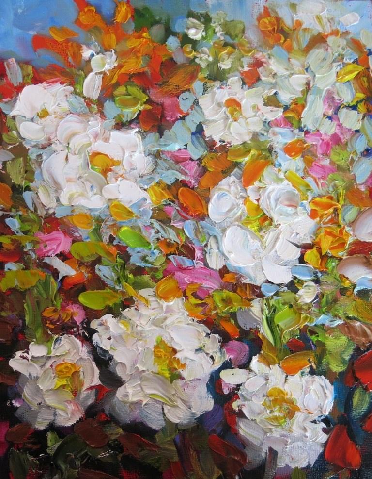 """""""#147 THE WHITES"""" original fine art by Dee Sanchez"""