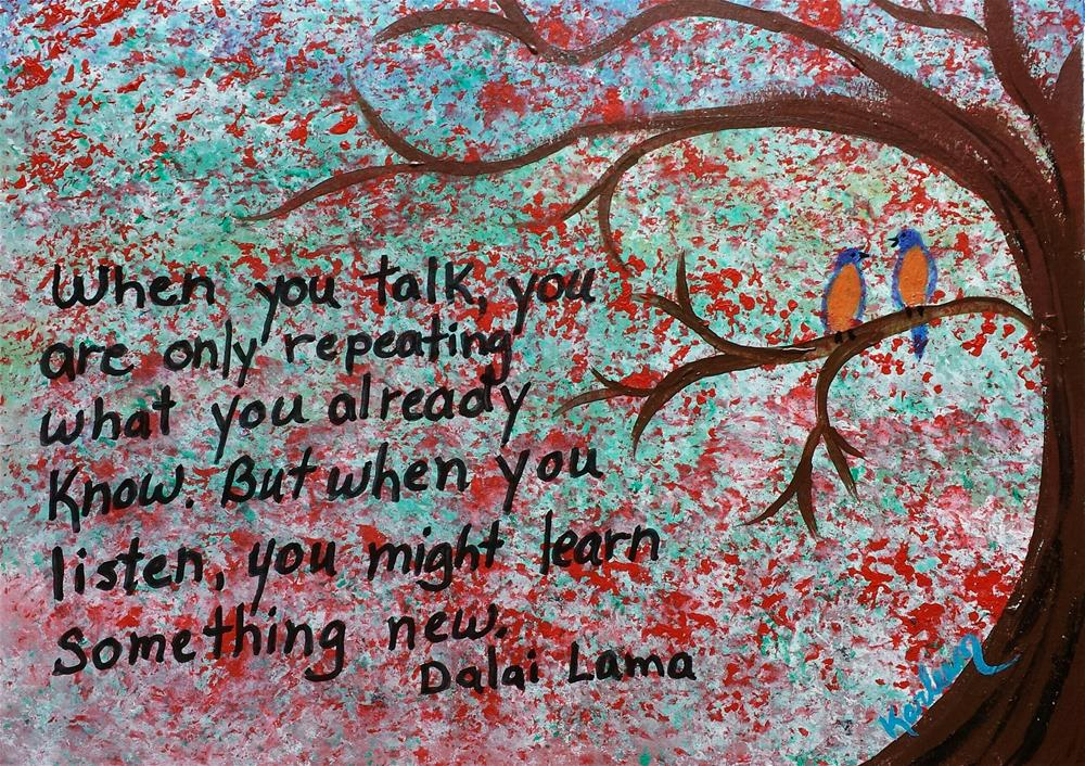 """Just Listen"" original fine art by Karleen Kareem"