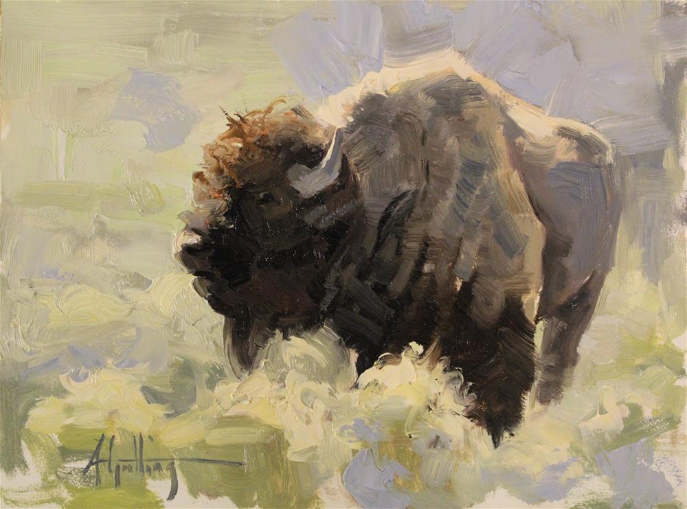 """Buffalo Study #10"" original fine art by Abigail Gutting"