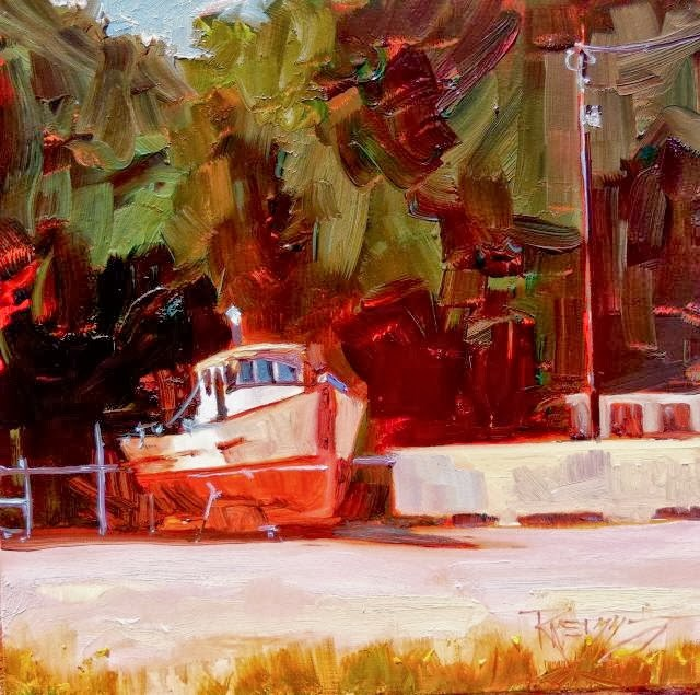 """Waiting for Water Port Angeles, plein air painting by Robin Weiss"" original fine art by Robin Weiss"