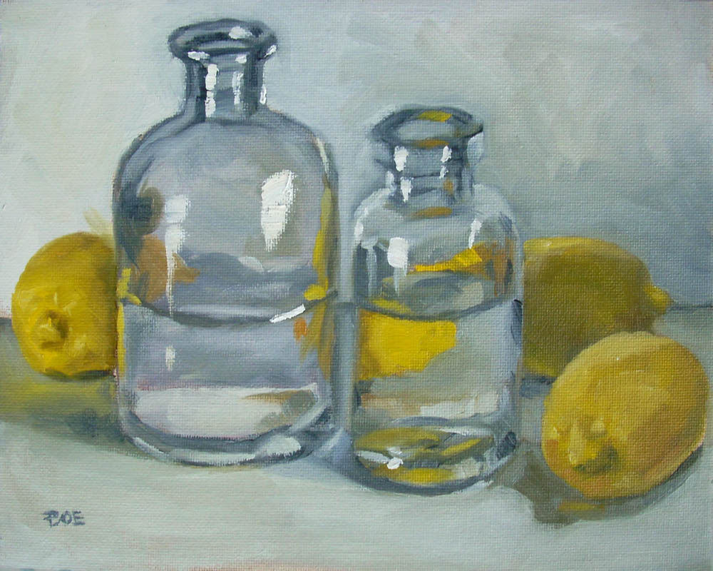 """Lemon Water"" original fine art by Karen Boe"