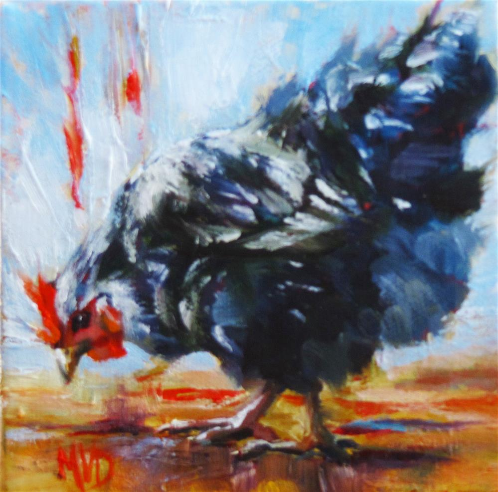 """""""Peck-a-Little"""" original fine art by Mary Van Deman"""