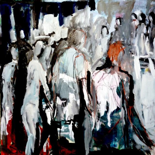 """""""eine Gruppe Menschen / a group people"""" original fine art by Mila Plaickner"""