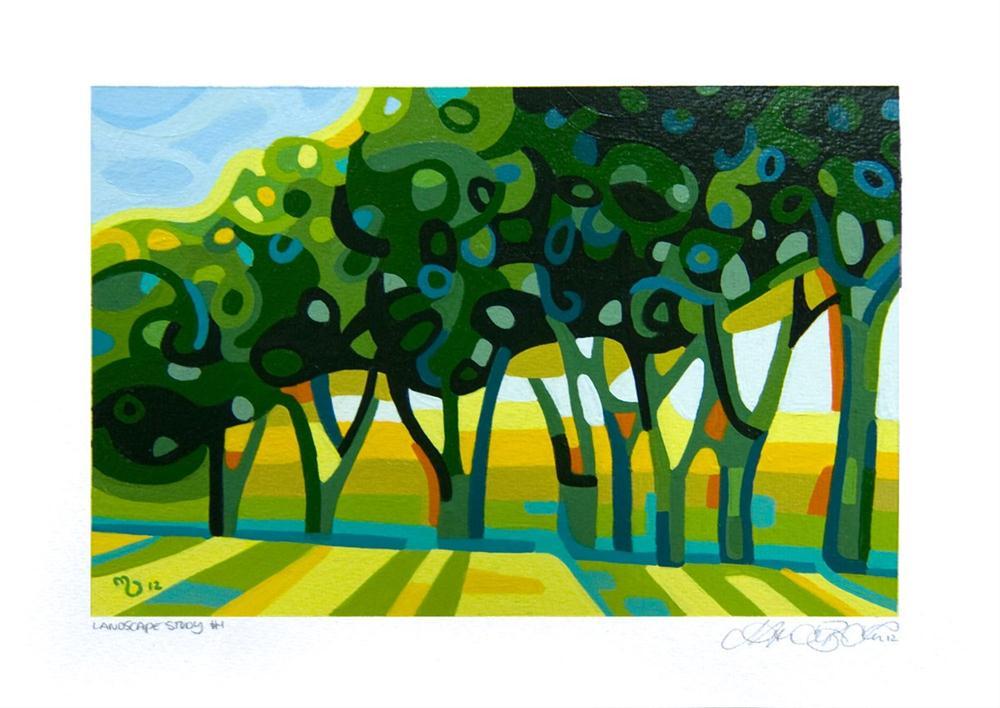 """Landscape Study #1"" original fine art by Mandy Budan"