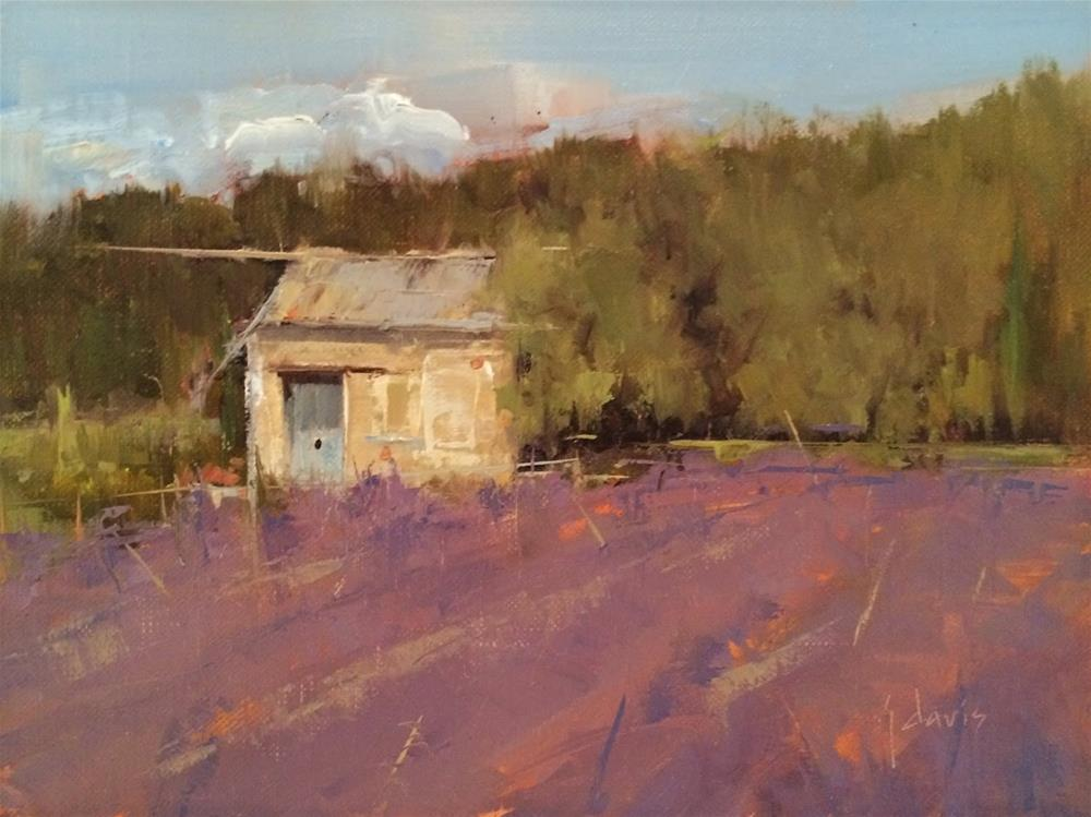 """Garden Cottage, Study"" original fine art by Julie Davis"
