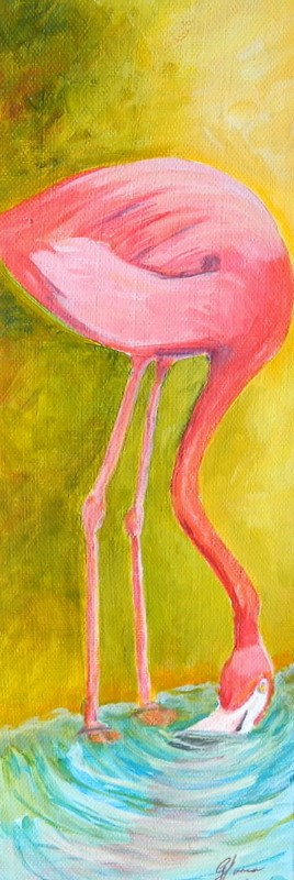 """Flamingo #2"" original fine art by Gloria Urban"