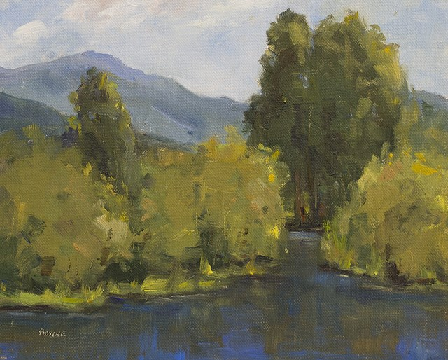"""On the Yampa"" original fine art by Bonnie Bowne"