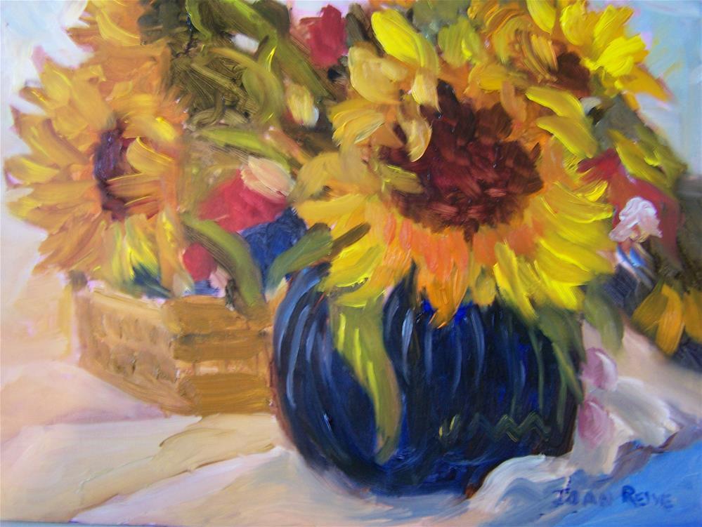 """""""Sunflowers"""" original fine art by Joan Reive"""