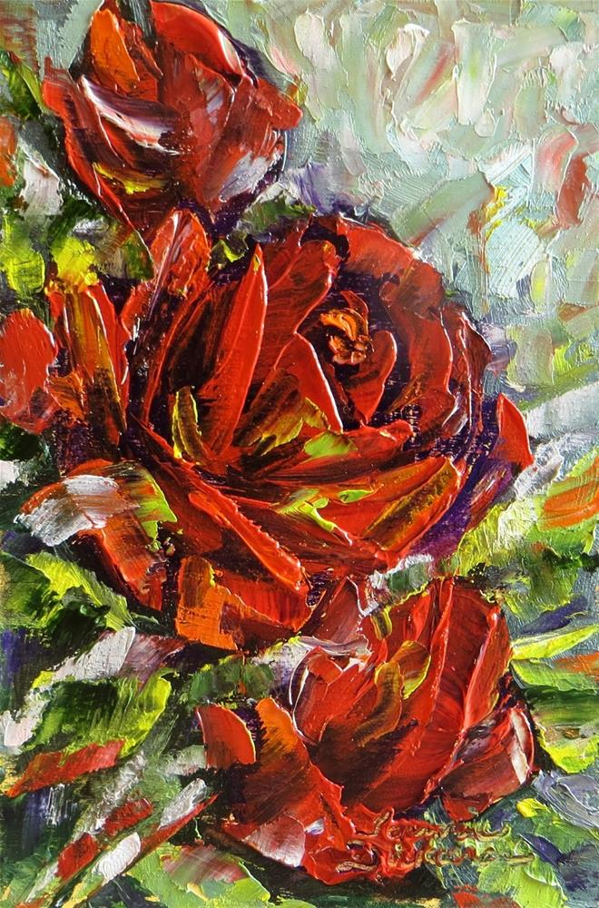 """Red Rose Impressions"" original fine art by Tammie Dickerson"