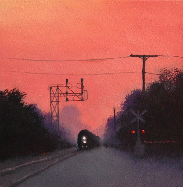 """MORNING COMMUTE"" original fine art by Gerald Schwartz"