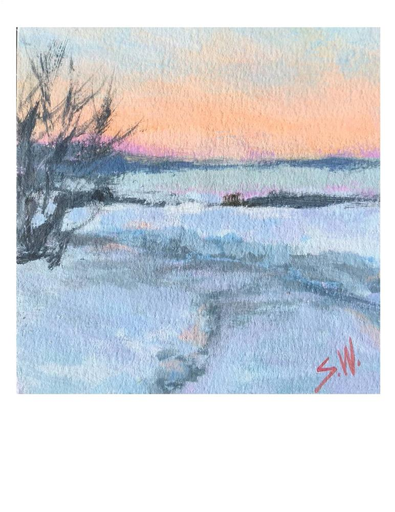 """Frozen"" original fine art by Suzanne Woodward"