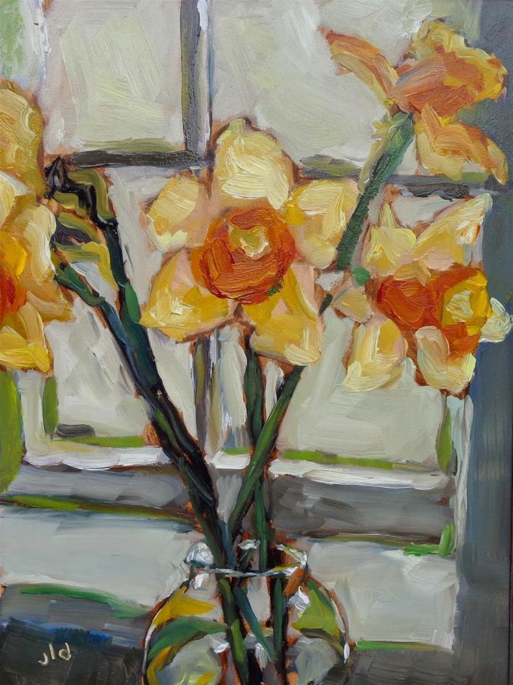 """""""By the window"""" original fine art by Jean Delaney"""
