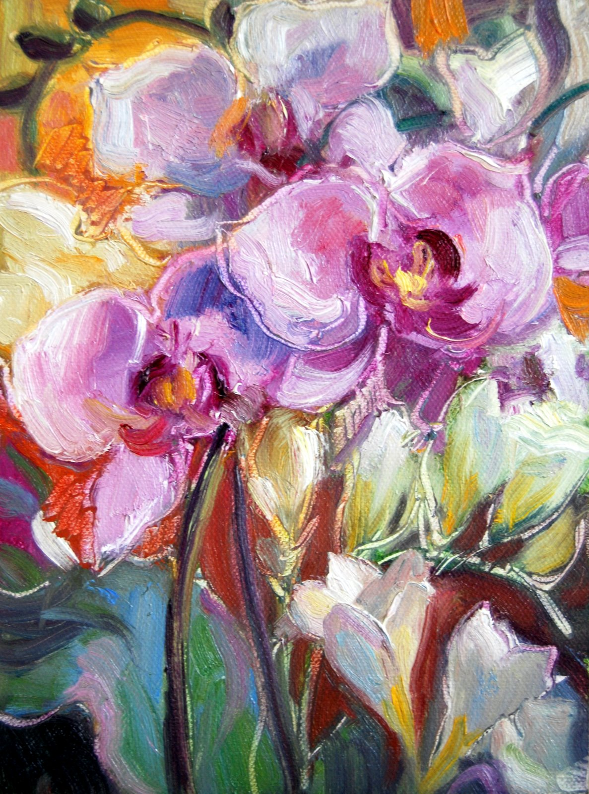 """Robb's Orchids"" original fine art by Julie Ford Oliver"