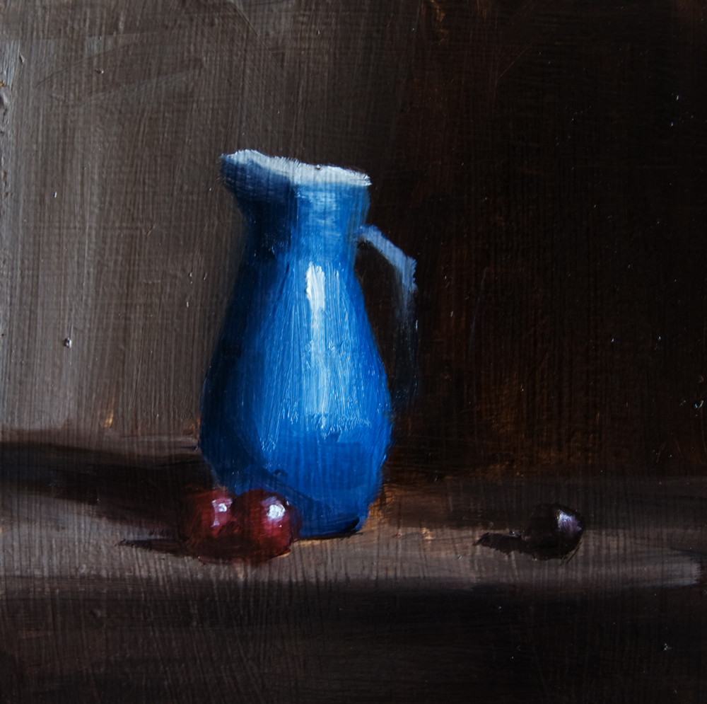 """Blue Jug"" original fine art by Neil Carroll"