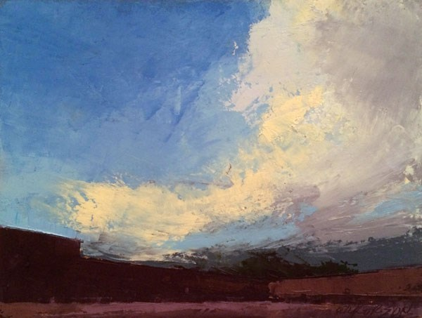 """Evening Storm, Shop Road"" original fine art by Mary Gilkerson"