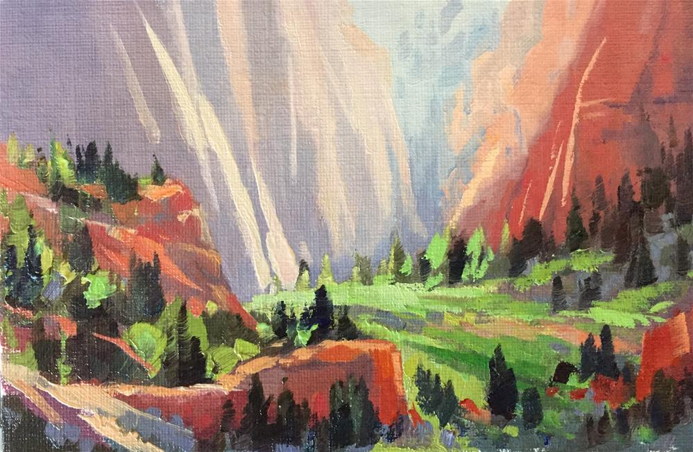 """Sunlight in the Canyon"" original fine art by Mary Jabens"