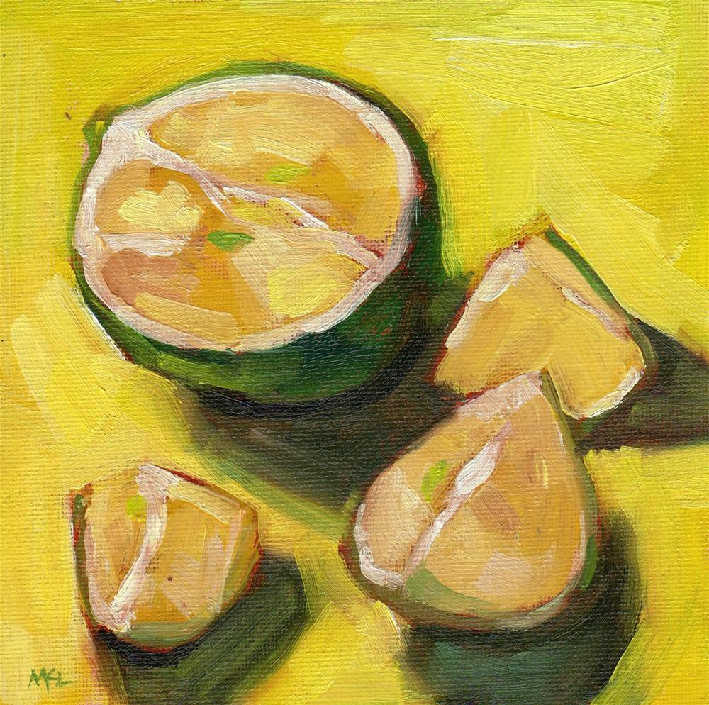 """Cut Up Lime"" original fine art by Marlene Lee"