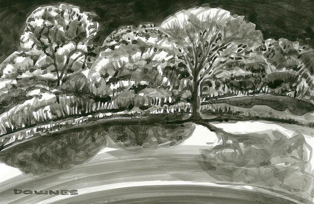 """256 EN PLEIN AIR SKETCH 15"" original fine art by Trevor Downes"