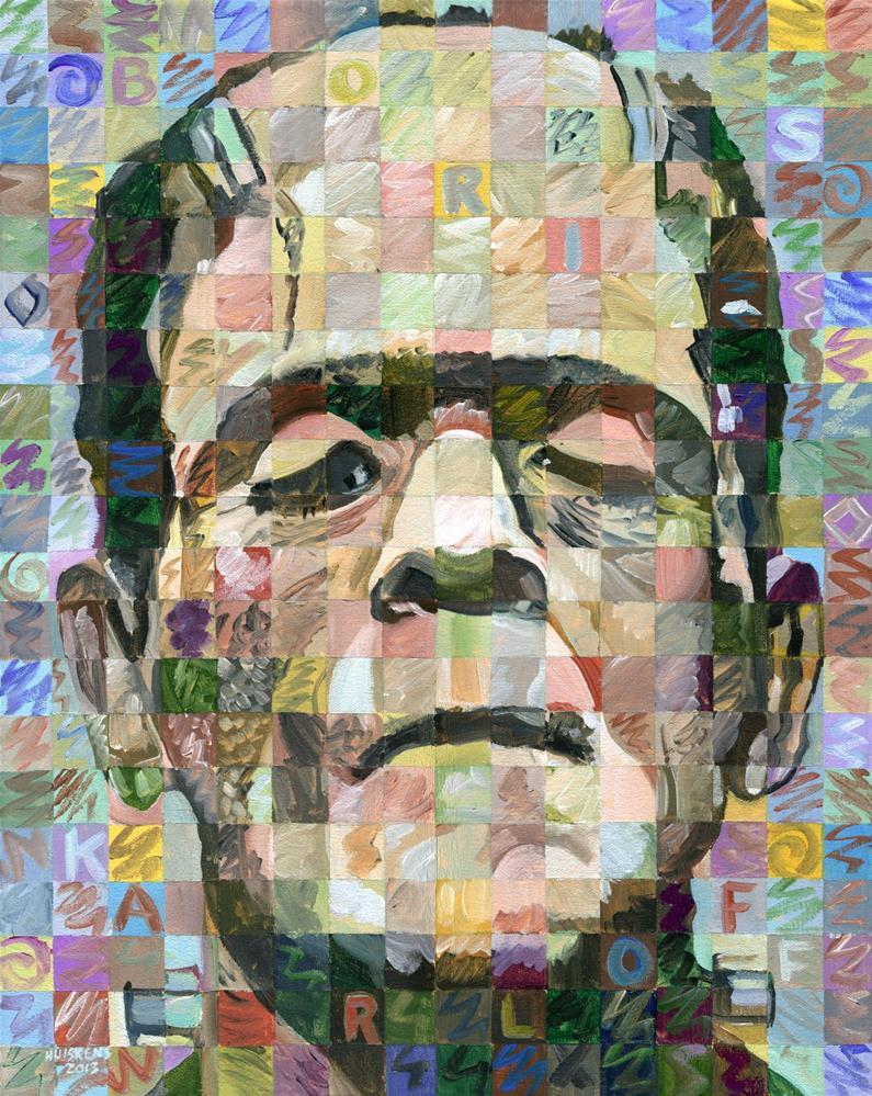 """Boris Karloff As The Frankenstein Monster"" original fine art by Randal Huiskens"