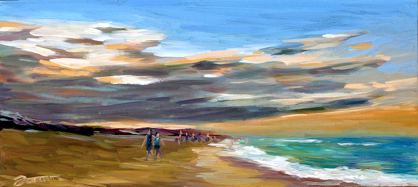 """Fun@Beach-2"" original fine art by Joanna Bingham"