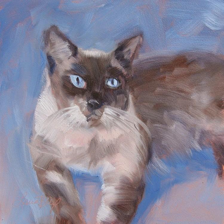 """Clancy - 349"" original fine art by Laura  Buxo"