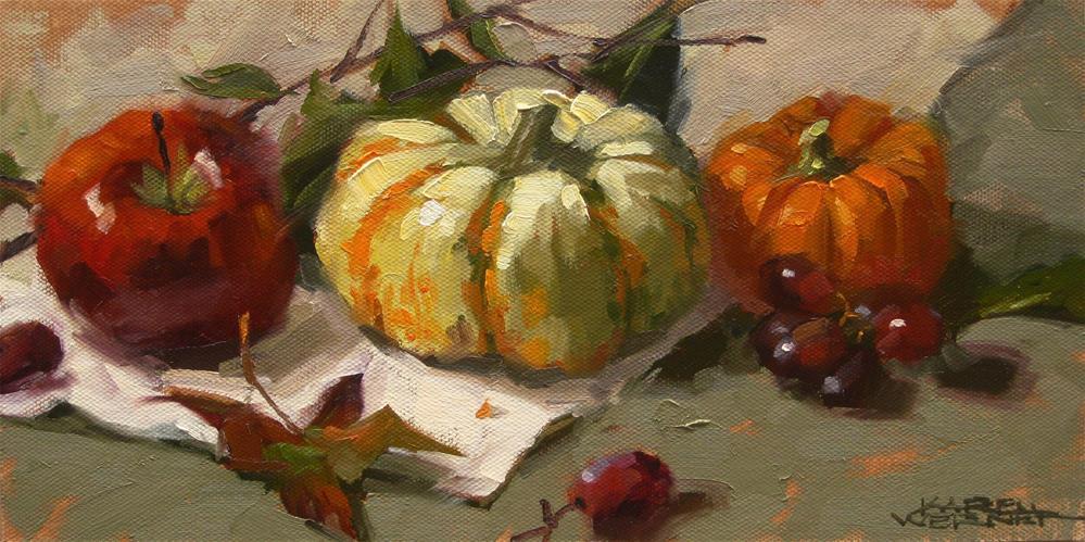 """Fall In Line"" original fine art by Karen Werner"