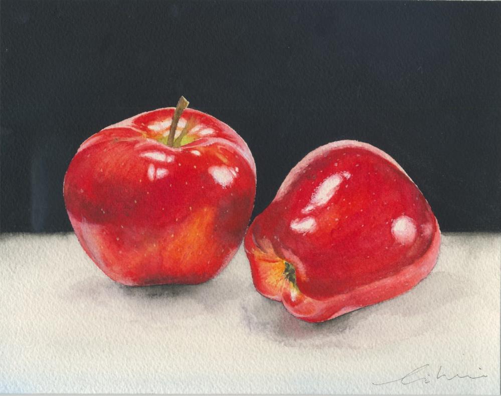 """""""Red Delicious"""" original fine art by Hui (Hue) Li"""