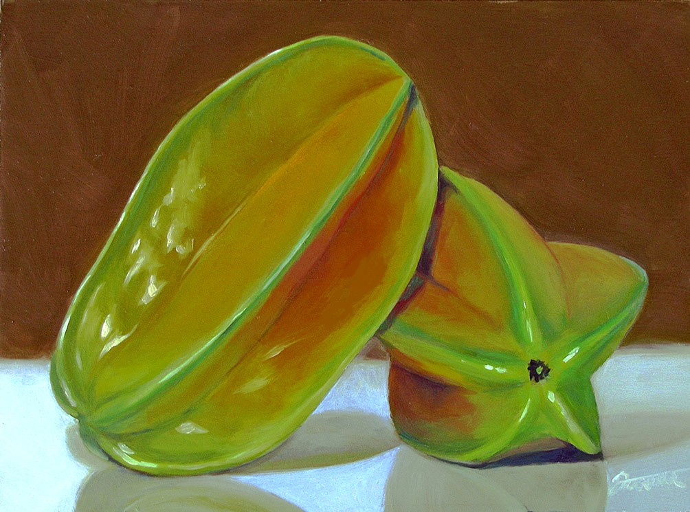 """On Star......Fruit"" original fine art by Joanna Bingham"