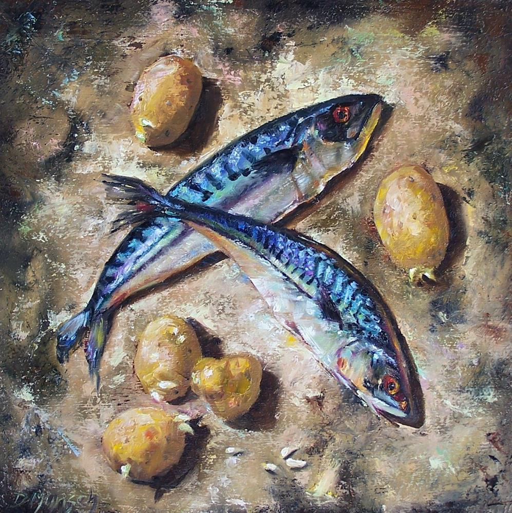 """Fish and Chips"" original fine art by Donna Munsch"