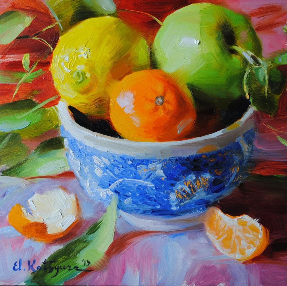 """Abundance of Fruit"" original fine art by Elena Katsyura"