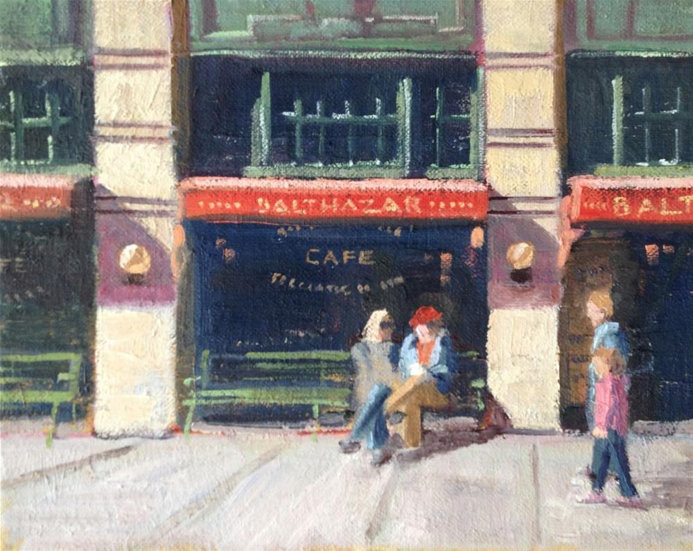 """Balthazar's in New York"" original fine art by Deborah Newman"