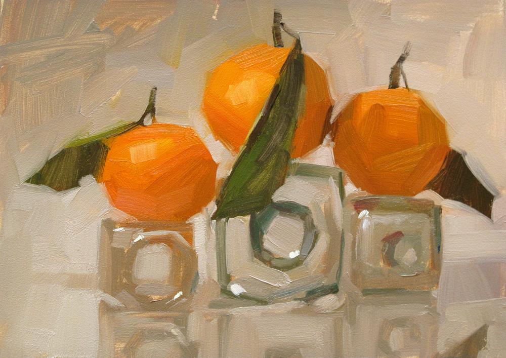 """Orange Sensation"" original fine art by Carol Marine"