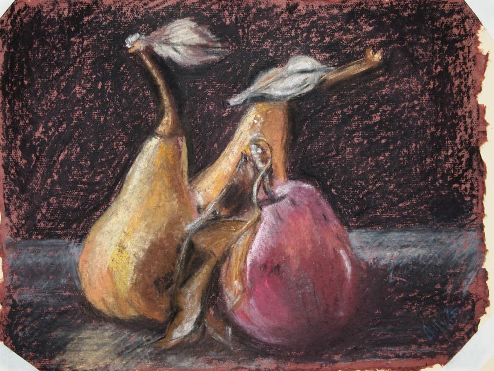 """A Pear and a Pair"" original fine art by Michelle Wells Grant"