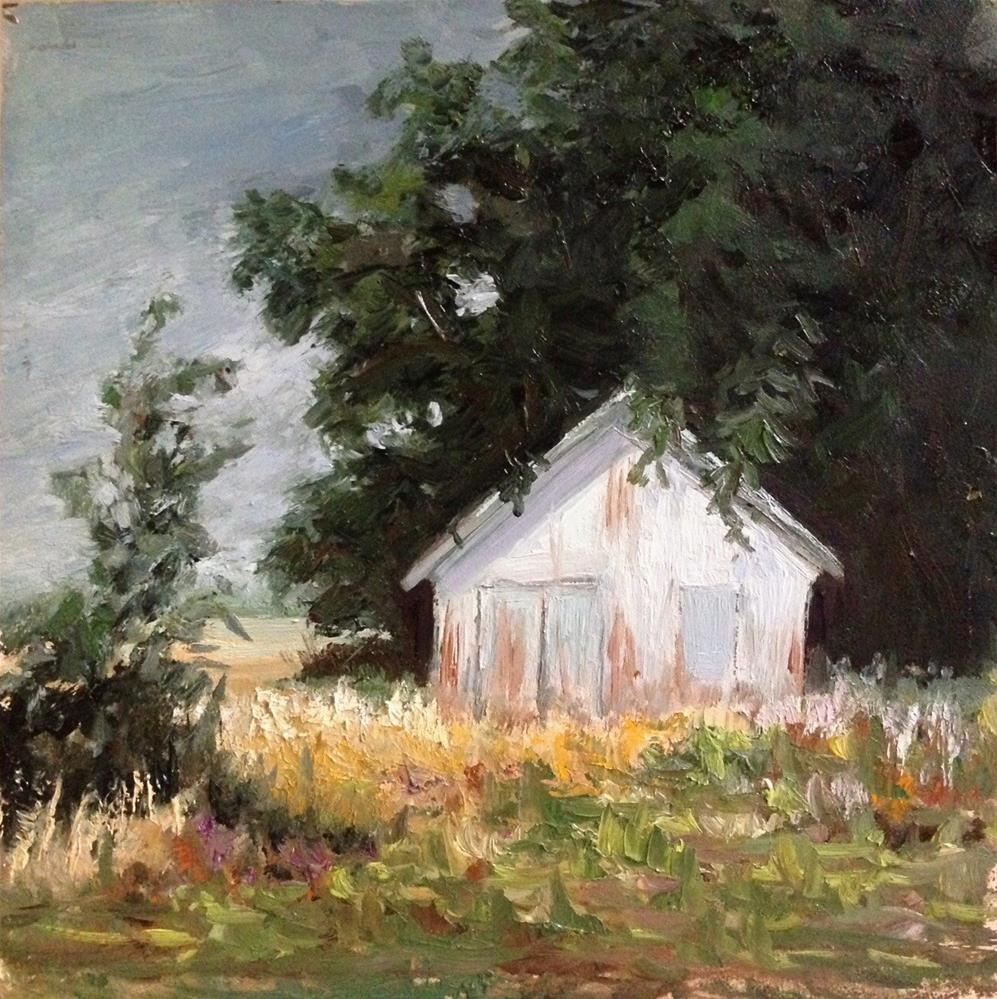 """Cologne Shed"" original fine art by Judith Anderson"