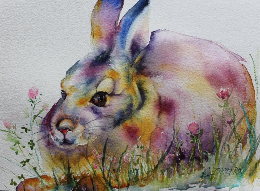 """Bunny"" original fine art by Colleen Drury"