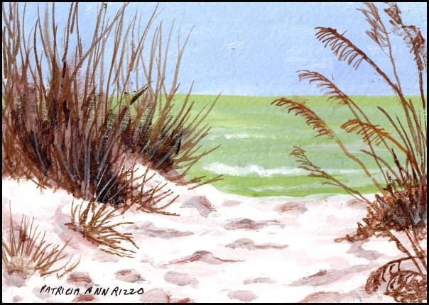 """Beach Days"" original fine art by Patricia Ann Rizzo"