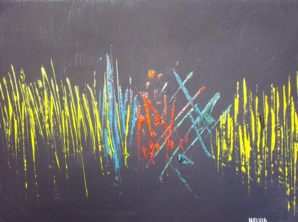"""""""The Converation"""" original fine art by Nelvia  McGrath"""