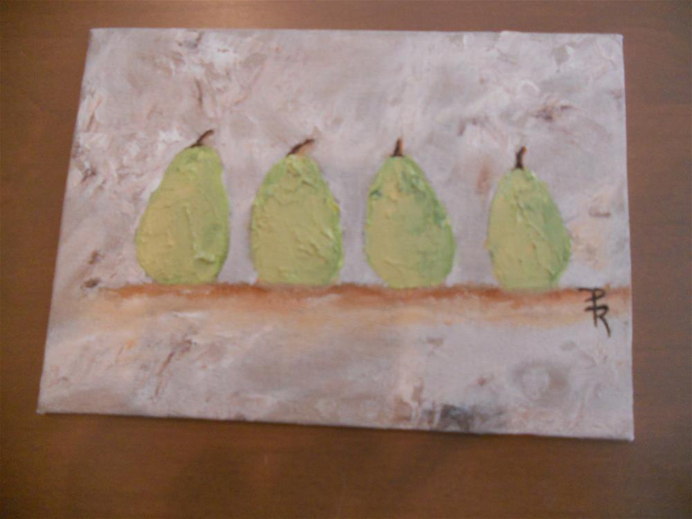 """Pears like Us"" original fine art by Pamela Ross"