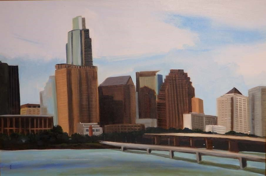 """Skyline View"" original fine art by Jane Frederick"