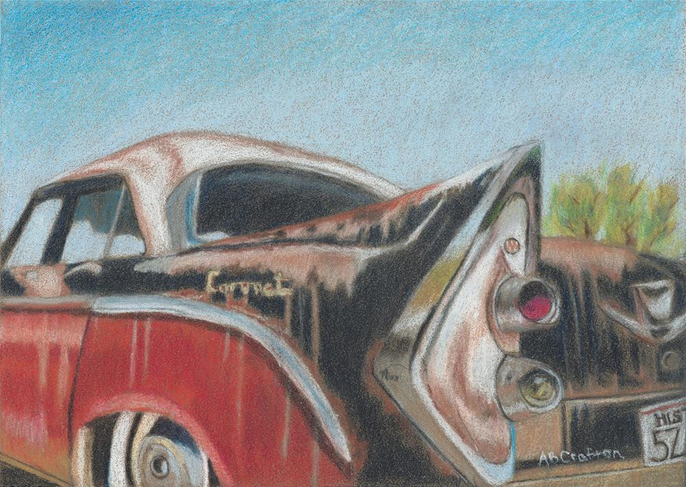 """Rusty Fin"" original fine art by Arlene Crafton"
