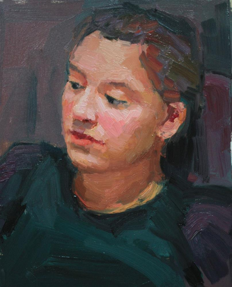 """Portrait Study #10"" original fine art by Kathryn Townsend"