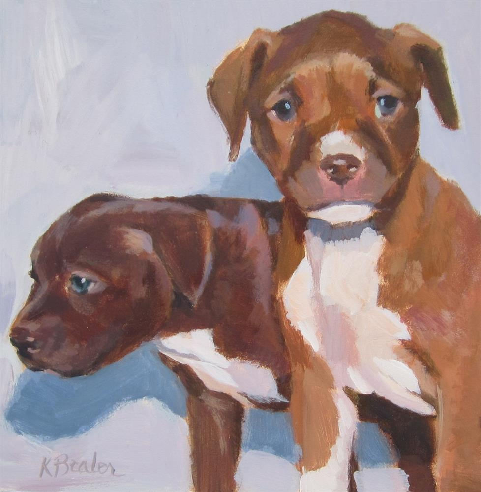 """Puppies"" original fine art by Kaethe Bealer"