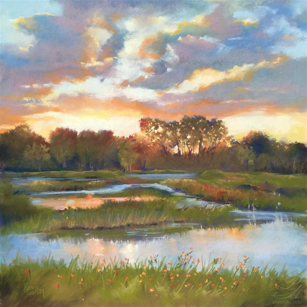 """Evening's Promise"" original fine art by Pamela Hamilton"