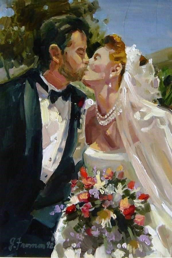 """Wedding Day"" original fine art by Jeannette Fromm"