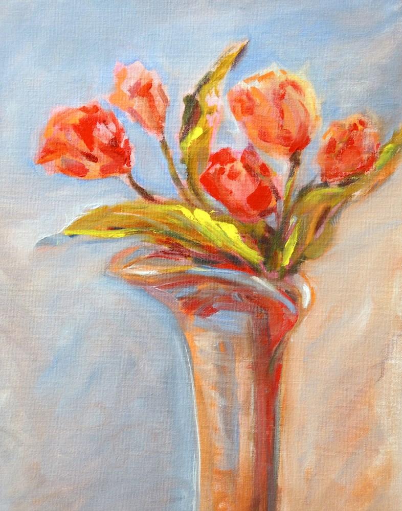 """Tulips Five"" original fine art by Mary Schiros"