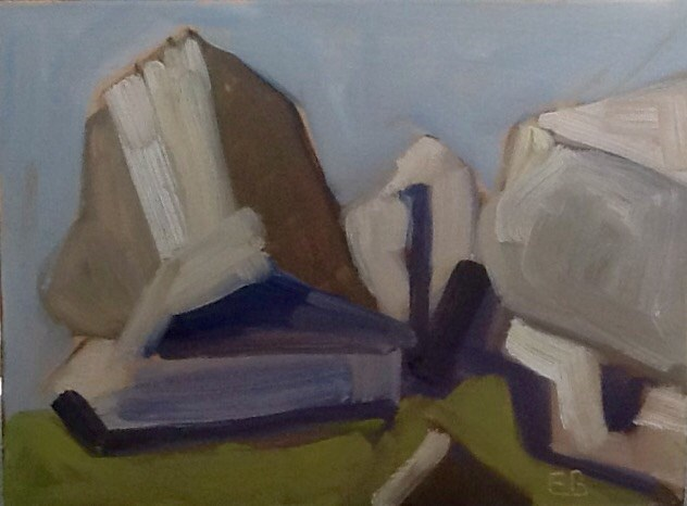 """Halibut Point. Abstraction #3"" original fine art by Elizabeth Bish"