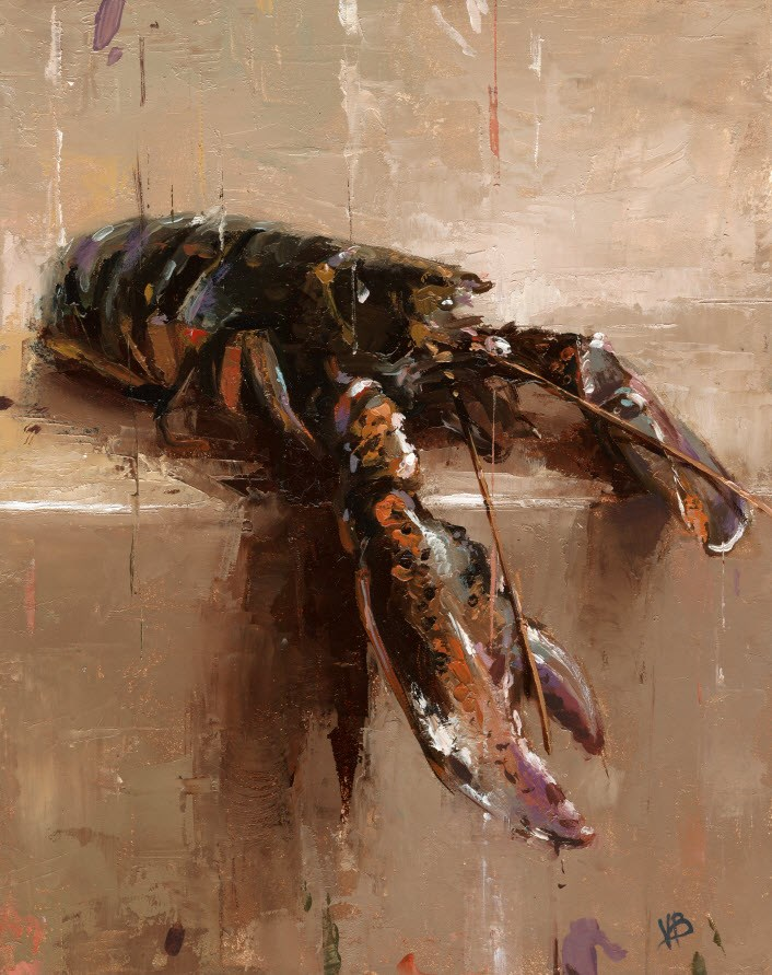 """Lobster-II"" original fine art by Victor Bauer"