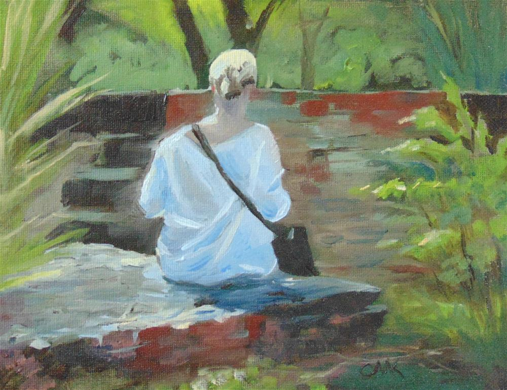 """Lady in the Park"" original fine art by Catherine Kauffman"