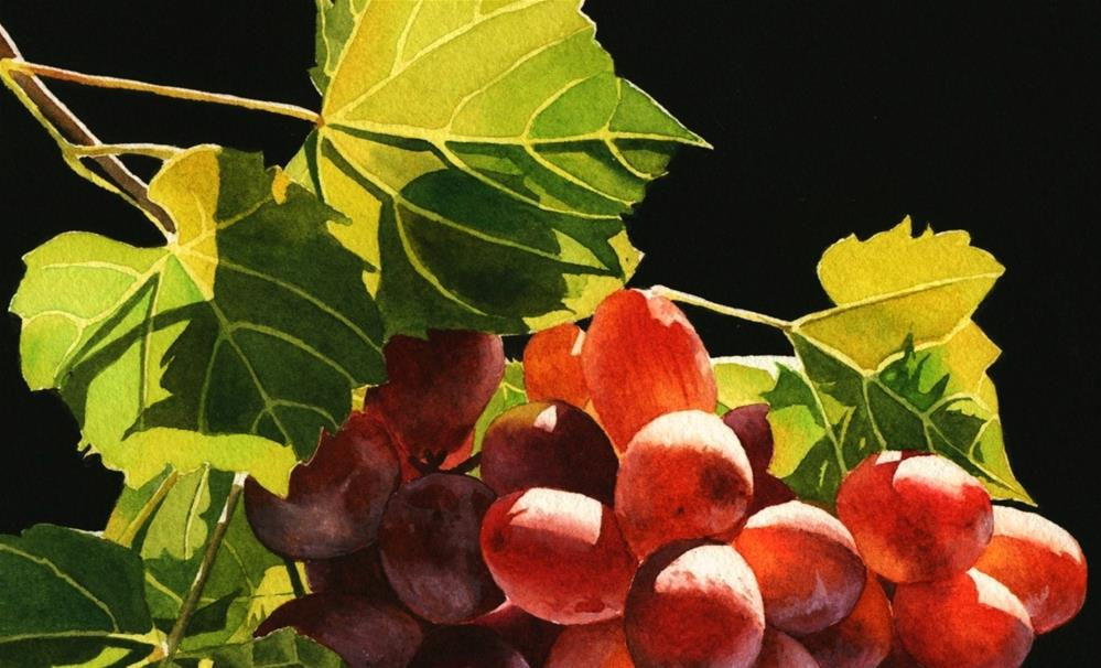"""Red Grapes"" original fine art by Jacqueline Gnott, whs"