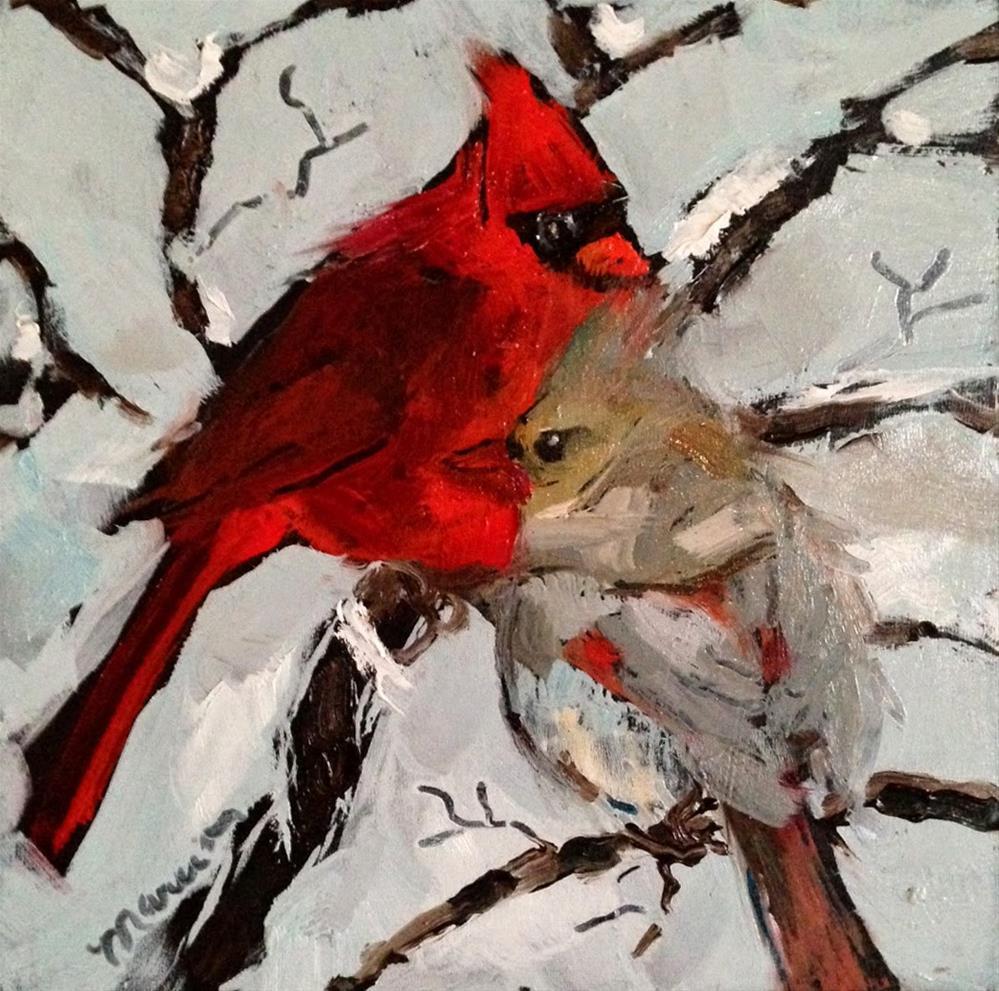 """Love Birds"" original fine art by Marcia Hodges"